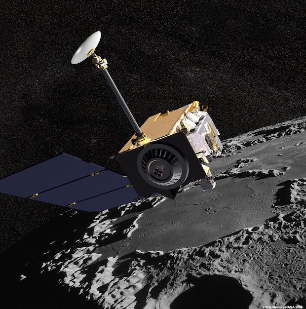 Artist's concept of the Lunar Reconnaissance Orbiter. Credit: NASA/GSFC
