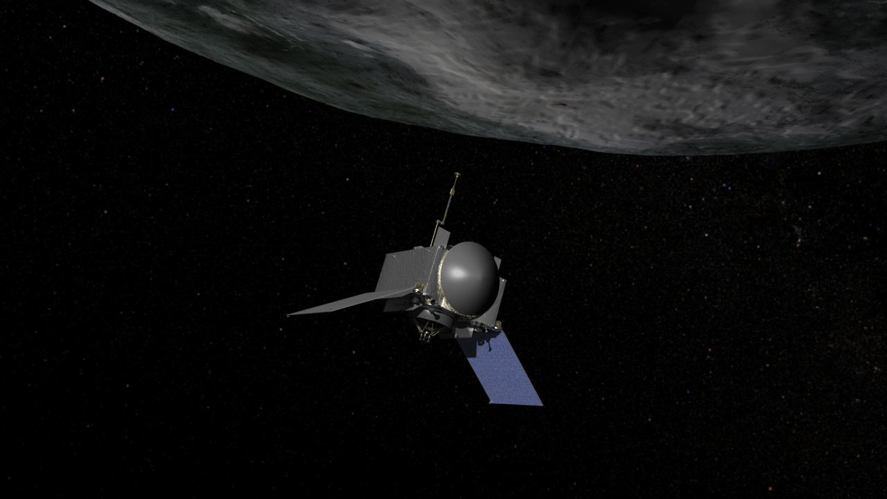 Artist's concept of the OSIRIS-REx spacecraft at asteroid Bennu. Credit: NASA/GSFC