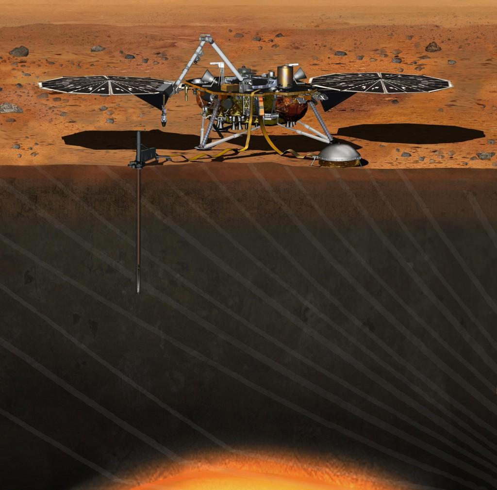 Artist's concept of the InSight lander on Mars. Credit: NASA
