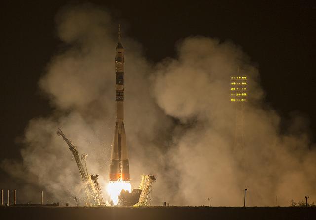 File photo of a Soyuz rocket launch. Credit: NASA/Joel Kowsky