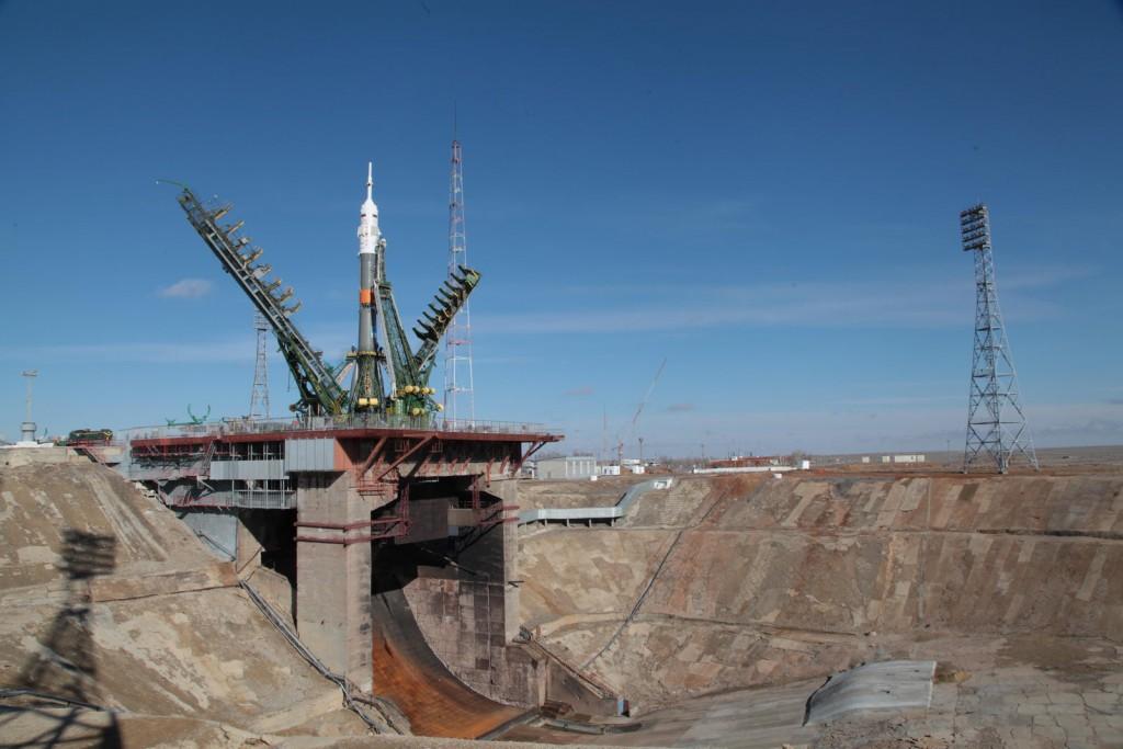Padalka, Kelly and Kornienko will ride the Soyuz TMA-16M spaceship into orbit Friday. Credit: Roscosmos