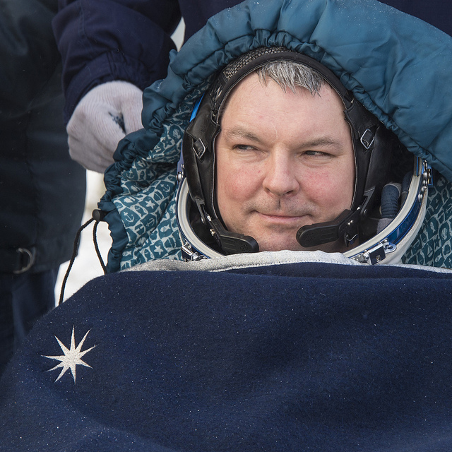 Soyuz commander Alexander Samokutyaev. Photo credit: NASA/Bill Ingalls