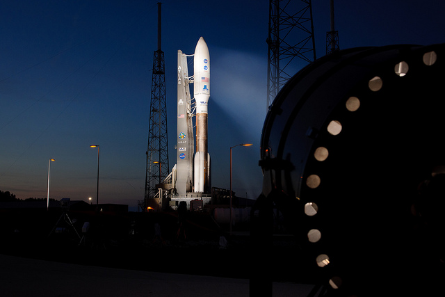 File photo of an Atlas 5 rocket on the launch pad with NASA's Juno spacecraft in August 2011. Credit: NASA/Bill Ingalls