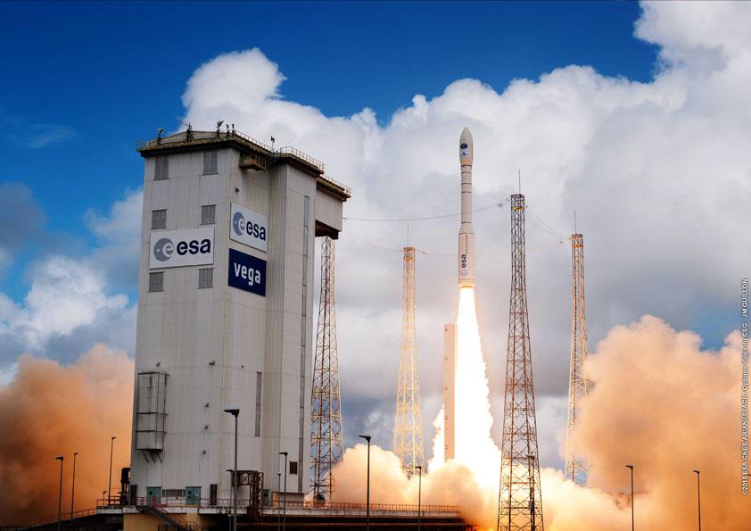 File photo of a Vega rocket launch. Credit: ESA/CNES/Arianespace – Photo Optique Video du CSG – JM Guillon