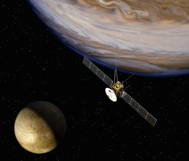 Artist's concept of ESA's JUICE spacecraft. Credit: ESA