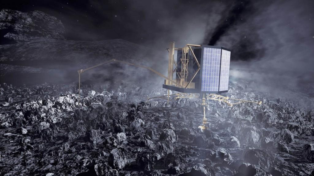Artist's concept of the Philae comet lander. Credit: DLR