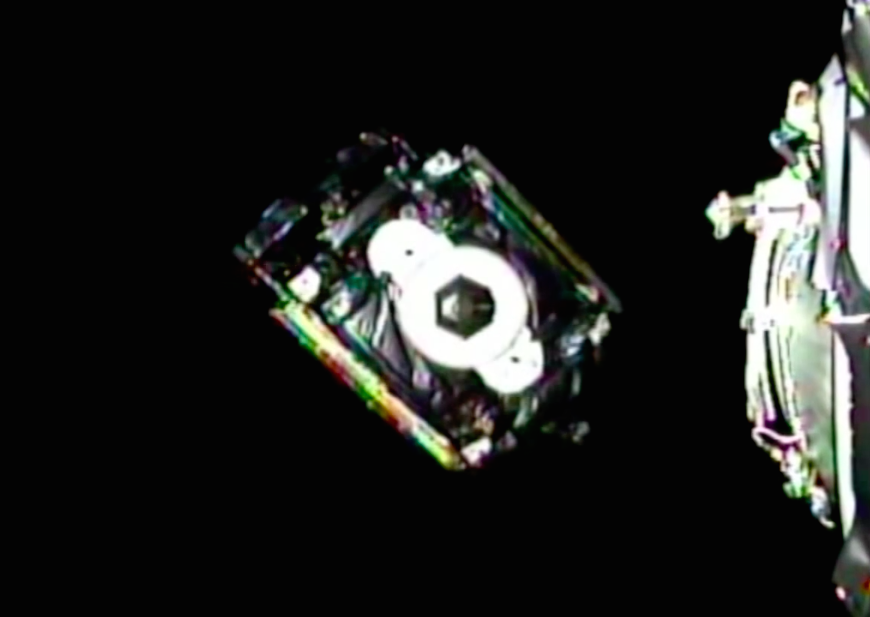 The ABS 3A spacecraft, with a launch mass of approximately 2,000 kilograms (4,400 pounds), deploys from the dual-payload stack on the Falcon 9 rocket.