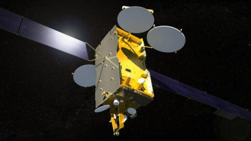 Artist's concept of the Express AM7 satellite. Credit: Airbus Defense and Space