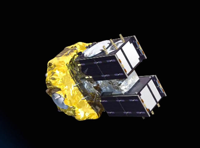 The Fregat main engine shuts down after a 4-minute, 22-second burn to inject the Galileo satellites into a circular orbit at an altitude 23,522 kilometers (14,615 miles) and an inclination of 55.04 degrees.