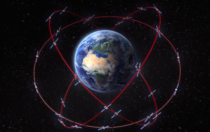 Artist's concept of the completed Galileo constellation in orbit. Credit: ESA