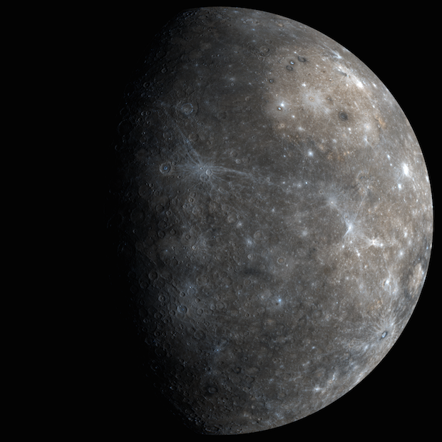 Messenger obtained this global view of Mercury during a flyby encounter in 2008. Credit: NASA/Johns Hopkins University Applied Physics Laboratory/Carnegie Institution of Washington