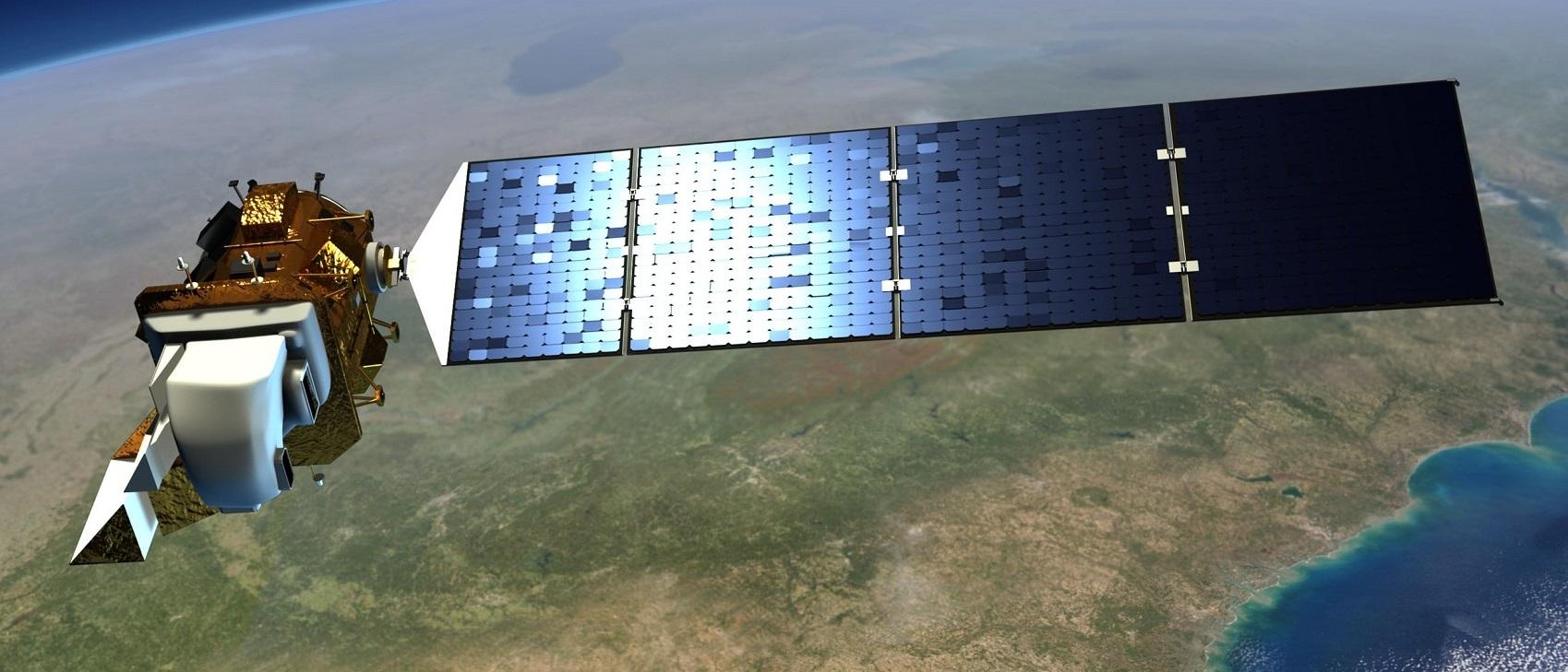 Artist's concept of Landsat 9, an upgraded rebuild of the Landsat 8 satellite launched in February 2013. Credit: NASA
