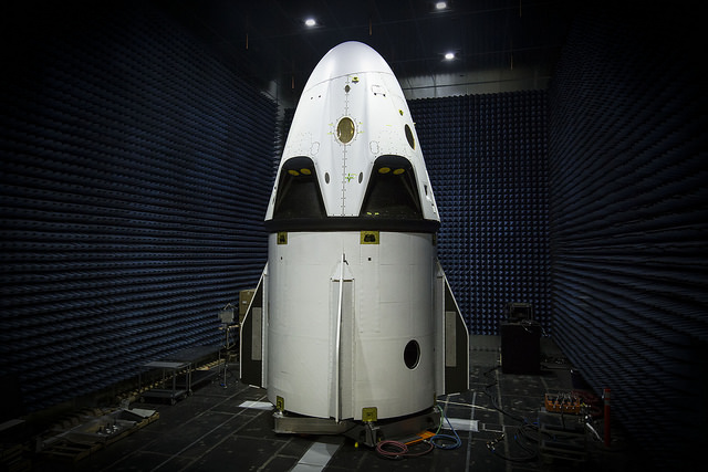 SpaceX's Crew Dragon pad abort vehicle during a ground test. Credit: SpaceX