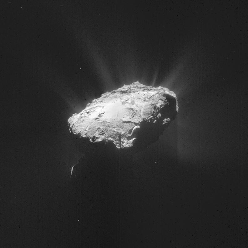 Rosetta's navigation camera took images for this mosaic of comet 67P/Churyumov-Gerasimenko on April 8. Credit: ESA/Rosetta/NAVCAM