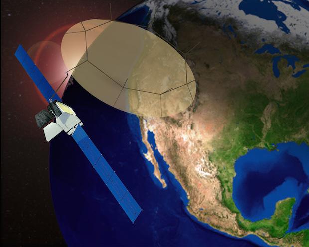 Artist's concept of the Mexsat 1, or Centenario, satellite. Credit: Boeing