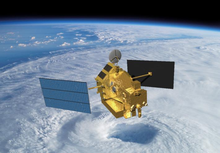Artist's concept of the Tropical Rainfall Measuring Mission. Credit: NASA