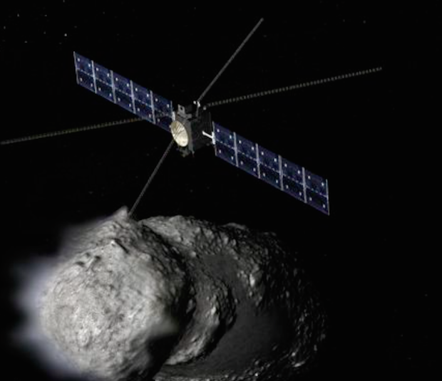 Artist's concept of the Comet Radar Explorer. Credit: Arizona State University/JPL-Caltech/Orbital ATK