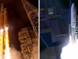 Delta 4-Heavy (left) and the new Vulcan rocket (right). Credit: ULA
