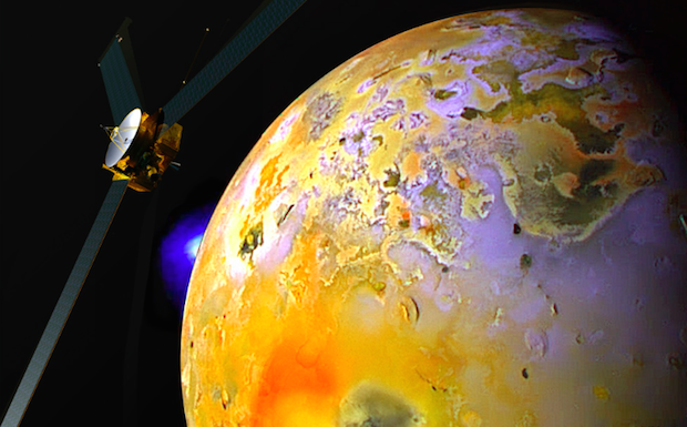 Artist's concept of the Io Volcano Observer. Credit: Alfred McEwen/University of Arizona/JHUAPL