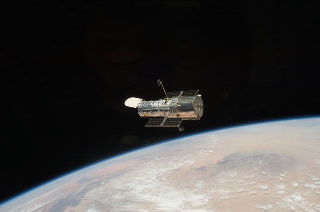 Astronauts aboard space shuttle Atlantis captured this view of the repaired Hubble Space Telescope after the final shuttle servicing mission to the observatory in 2009. Credit: NASA