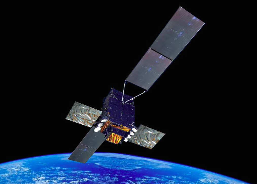 Artist's concept of the Sicral 2 satellite. Credit: Thales Alenia Space