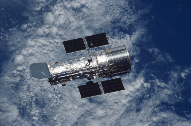 The Hubble Space Telescope after deployment from space shuttle Columbia during a 2002 servicing mission. Credit: NASA