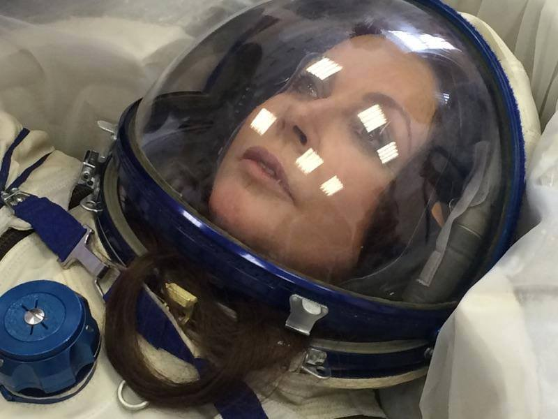 Sarah Brightman is pictured during training for a planned flight to the International Space Station in September. Brightman announced Wednesday she is postponing her mission. Credit: Sarah Brightman's Facebook page
