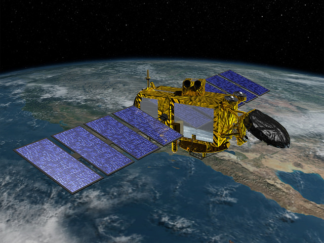 Artist's concept of the Jason 3 satellite. Credit: NASA/JPL