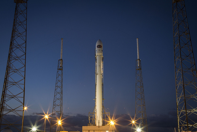 File photo of a Falcon 9 rocket on the launch pad at Cape Canaveral. Credit: SpaceX