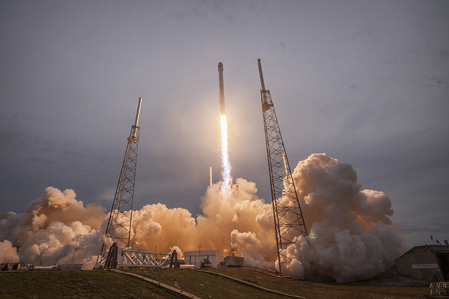 File photo of a Falcon 9 rocket launch. Credit: SpaceX