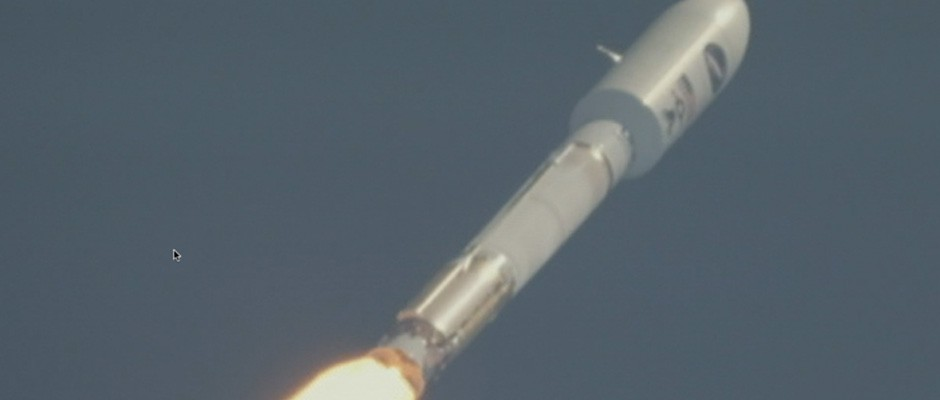 Closeup of ULA Atlas V 501 launch, May 20, 2015