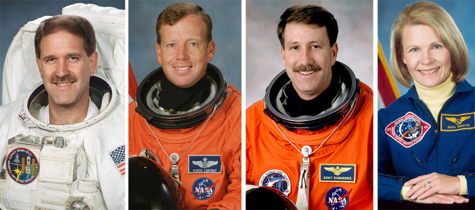 Grunsfeld, Lindsey, Rominger and Seddon. Credit: NASA