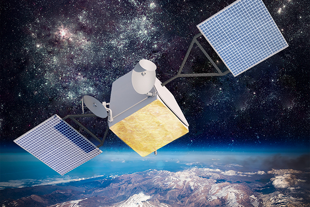 Artist's concept of a OneWeb satellite. Credit: OneWeb