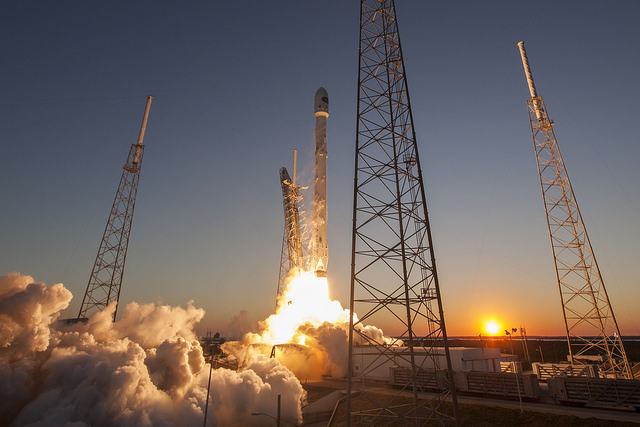 DSCOVR launched from Cape Canaveral on Feb. 11 on top of a SpaceX Falcon 9 rocket. Credit: SpaceX