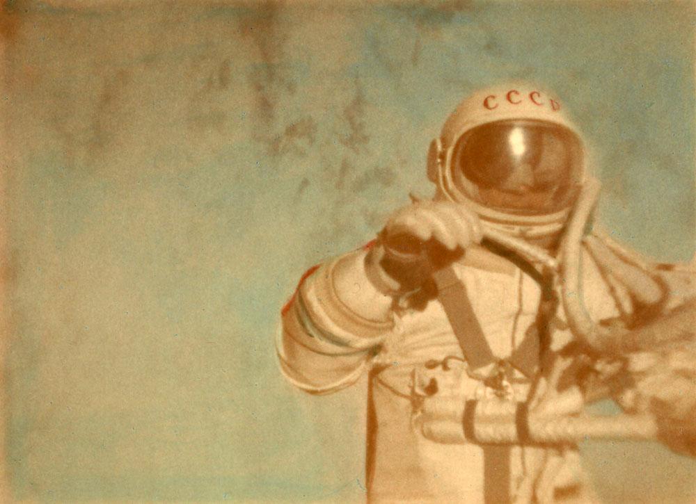 Alexei Leonov conducted the first spacewalk on March 18, 1965. Credit: FAI