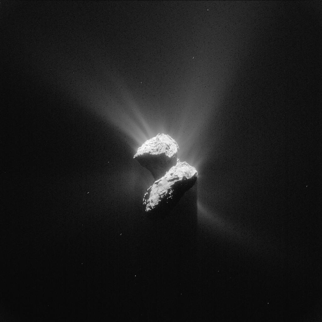 Rosetta's navigation camera captured this view of comet 67P/Churyumov-Gerasimenko awakened by the sun June 5. Credit: ESA/Rosetta/NavCam