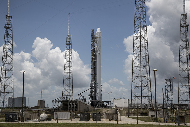 SpaceX's Falcon 9 rocket at Cape Canaveral's Complex 40 launch pad. Credit: SpaceX