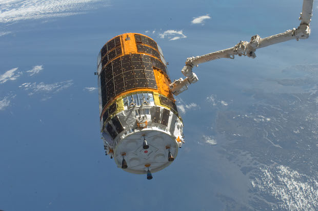 Japan's HTV cargo craft seen on a previous flight to the International Space Station. Credit: NASA