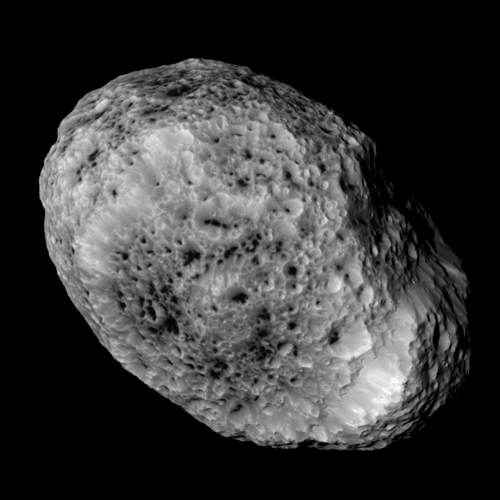 Cassini's narrow-angle camera captured this view of Hyperion on May 31 at a range of 37,000 miles. Credit: NASA/JPL-Caltech/SSI