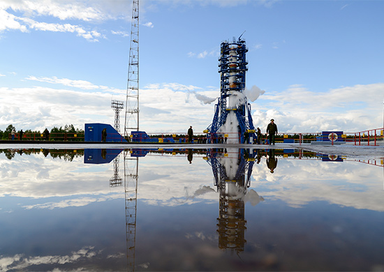 The Soyuz-2.1a rocket is fueled for launch Friday at the Plesetsk Cosmodrome, a launch base about 500 miles north of Moscow. Credit: Russian Ministry of Defense