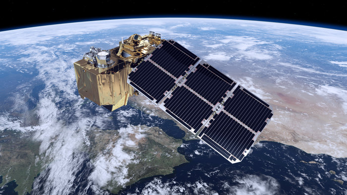 Artist's concept of the Sentinel 2A satellite. Credit: ESA