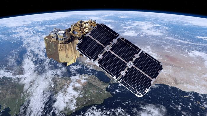 Artist's concept of the Sentinel 2A satellite. Credit: ESA
