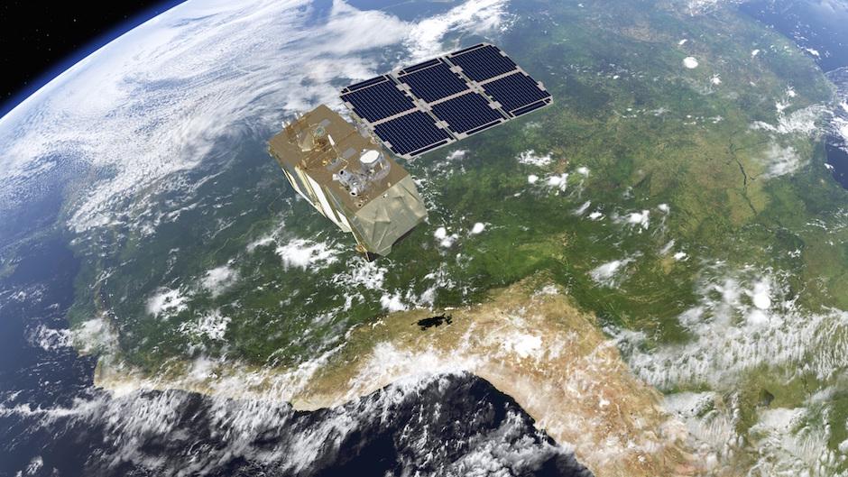 Artist's concept of the Sentinel 2A satellite in orbit. Credit: ESA/ATG medialab