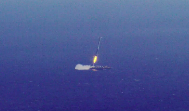 The Falcon 9's first stage will land on SpaceX's autonomous spaceport drone ship in the Atlantic Ocean.