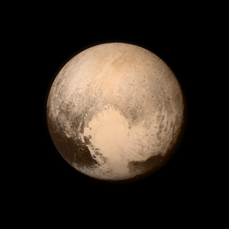 NASA's New Horizons spacecraft returned this photo of Pluto late Monday, the last view of the icy world before Tuesday's flyby. Photo credit: NASA/JHUAPL/SWRI