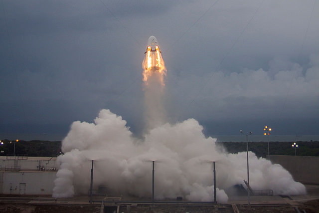 SpaceX's pad abort test for the Crew Dragon spacecraft occurred May 6. Credit: SpaceX
