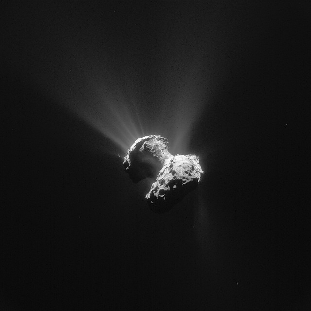 Rosetta's navigation camera snapped this view of comet 67P/Churyumov-Gerasimenko on June 21 at a distance of 177 kilometers (110 miles). Credit: ESA/Rosetta/Navcam