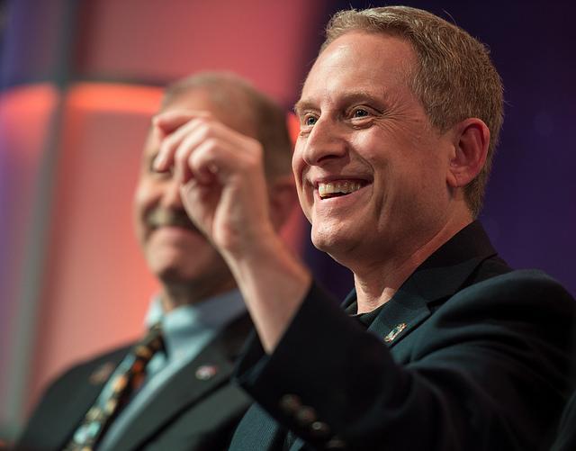 New Horizons principal investigator Alan Stern speaks during a press briefing Monday. Credit: NASA/Bill Ingalls