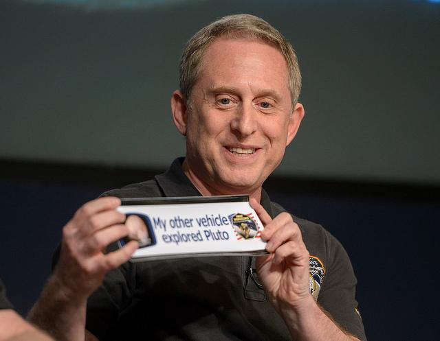 Alan Stern, New Horizons' principal investigator, during a media briefing Friday. Credit: NASA/Joel Kowsky