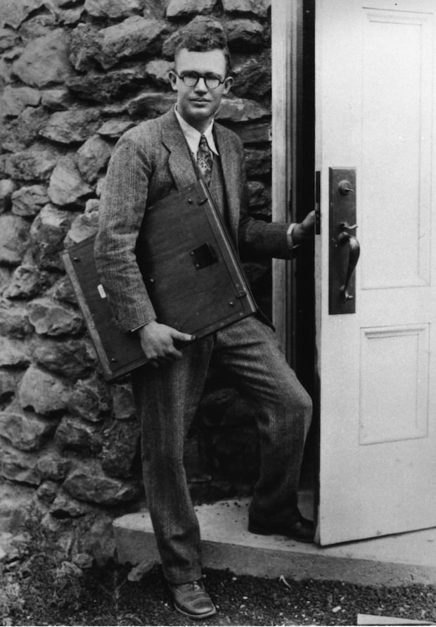 Clyde Tombaugh, discoverer of Pluto. Credit: Lowell Observatory Archives